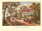 Currier And Ives A Home On The Mississippi