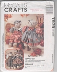 Vintage - 18 In Bear - Bunny Pattern - Uncut