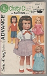 289sew-easy Pattern - Advance - Chatty Cathy - 1962