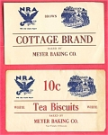 #3 Nra National Recovery Act Labels Meyer Bakery