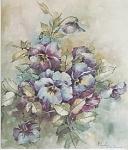 Mary Patusky Pansies Study 05 China Painting