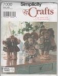 Vintage - Bears & Clothes - Simplicity 7000 - Uncut
