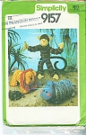 Vintage Animals Pattern Monkey Lion Hippo