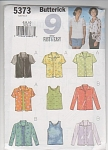 Butterick 9 Fast And Very Easy Top Patterns S