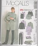Unlined Jacket - Blanket - Top - Pants - Bag Pattern