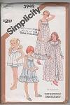 Vintage - 5949 - Girls Robe - Pj's - Baby-dolls - 10-14