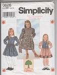 Girls Dress - Purse - Oop - Sz 5-8 - Simplicity 0626