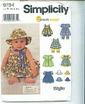 Simplicity Toddler/ Babies Pattern 9784