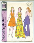 Mccalls Vintage Halter Dress, Tunic And Pants