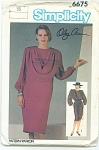 Simplicity Oleg Cassini Ladies Dress Pattern