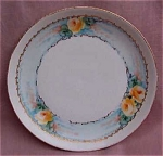 Hand Painted Yellow Roses Bavaria Plate