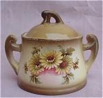 Vintage Czechoslovakia Daisy Sugar Bowl