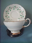 Crown Staffordshire Cup And Saucer-england