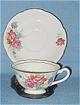 Occupied Japan Floral China Cup And Saucer