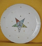 Lefton China Oes Commemorative Plate #kf105