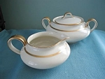 Theodore Haviland Sugar Bowl And Creamer