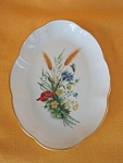 Lec Limoges Floral Pin Dish W/gold Trim
