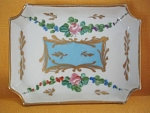 Vintage Limoge Hand Painted Calling Card Tray