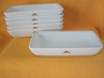 Noritake Oblong Side Dishes W/centaur Design