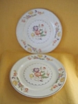 Paden City Pottery Inch Floral Cake Plate