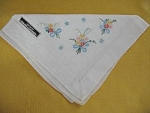 Imported Hand Loomed Floral Ladies Handkerchief