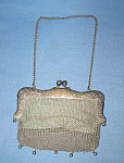 1907 German Silver Mesh Bag With Initials