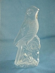 Viking Crystal Frosted Parakeet Figurine