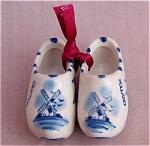 Pair Of Delft Holland Porcelain Shoes