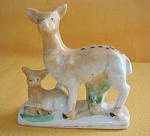 Japan Hand Painted Deer And Fawn Figurine