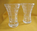Mikasa Miniature Fine Crystal Block Vase-set Of 2