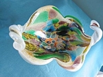 Murano Cased Glass Bowl With Millefiore
