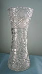 American Brilliant Period Crystal Cut Glass Vase