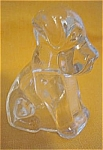 Federal Glass Sitting Dog Candy Container 1940s