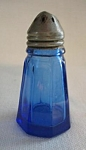 Cobalt Glass Paneled Salt Shaker