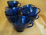 Duralex Cobalt Blue Swirl Cups And Saucers