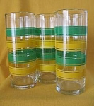 Libbey Banded Iced Tea Glasses