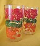 Vintage Flower Glasses-set Of 2