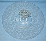 Paden City Glass Spring Orchard Server Plate