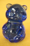 Fenton Cobalt Blue Glass Sitting Bear Figurine
