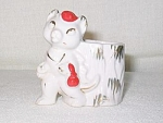 Japan China Cat Tooth Pick Holder