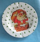 Santa Claus Christmas Aluminum Ashtrays-set Of 2
