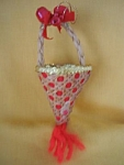 Cane Basket Candy Holder Christmas Ornament