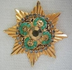 8 Point Star Pin With Rhinestones