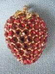 Monet Garnet Strawberry Pin