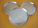 Fruit And Flower Pattern Aluminum Coasters