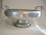 Hammered Aluminum Fruits And Flowers Serrated Nut Bowl