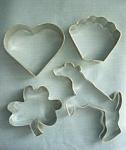 Set Of 4 Aluminum Cookie Cutters
