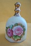 Hand Painted Rose Floral China Dinner Bell