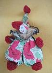 Vintage Beanbag Floral Material Clown