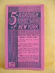 5-borough Street Guide Of New York-1958